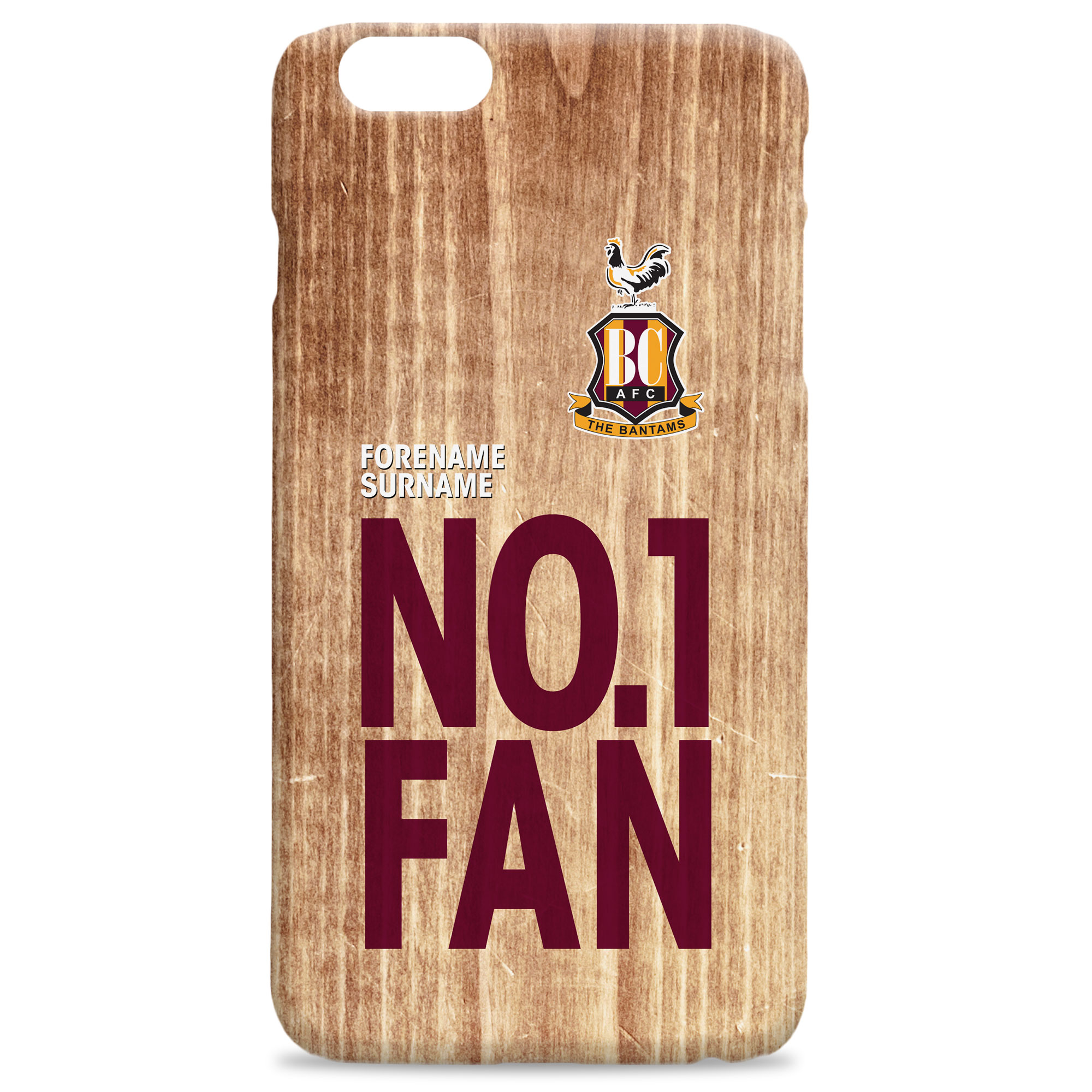 Bradford City AFC No 1 Fan Hard Back Phone Case