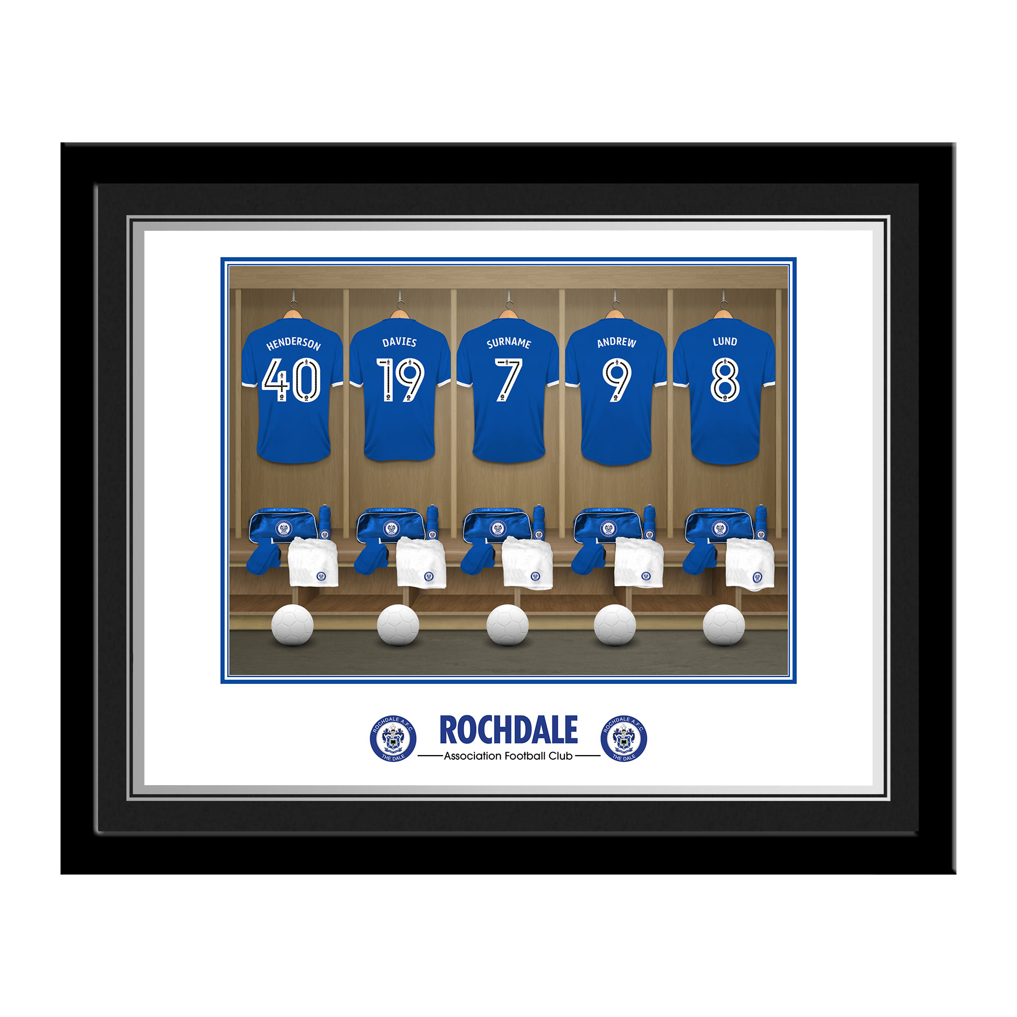 Rochdale AFC Dressing Room Photo Framed