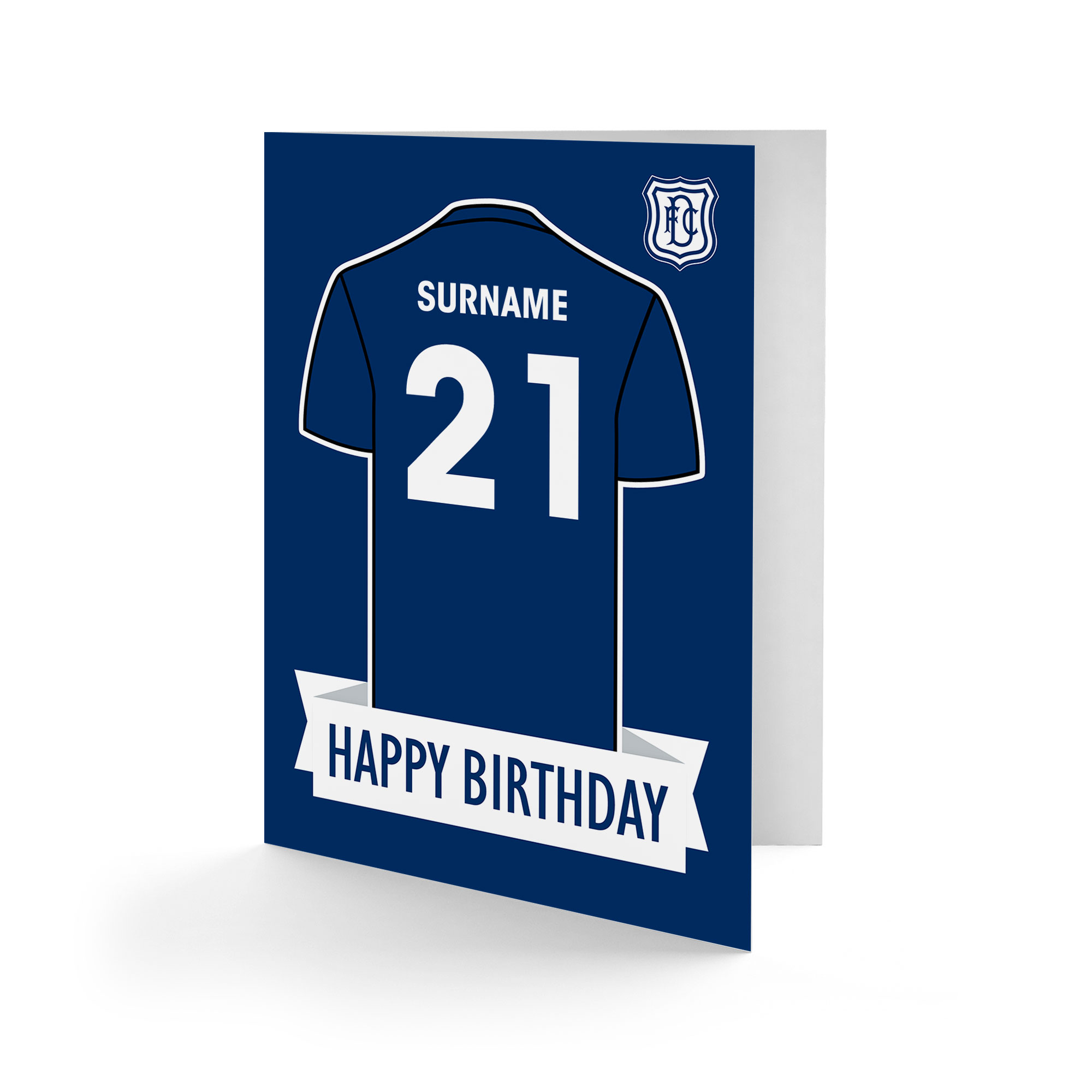Dundee FC Shirt Birthday Card