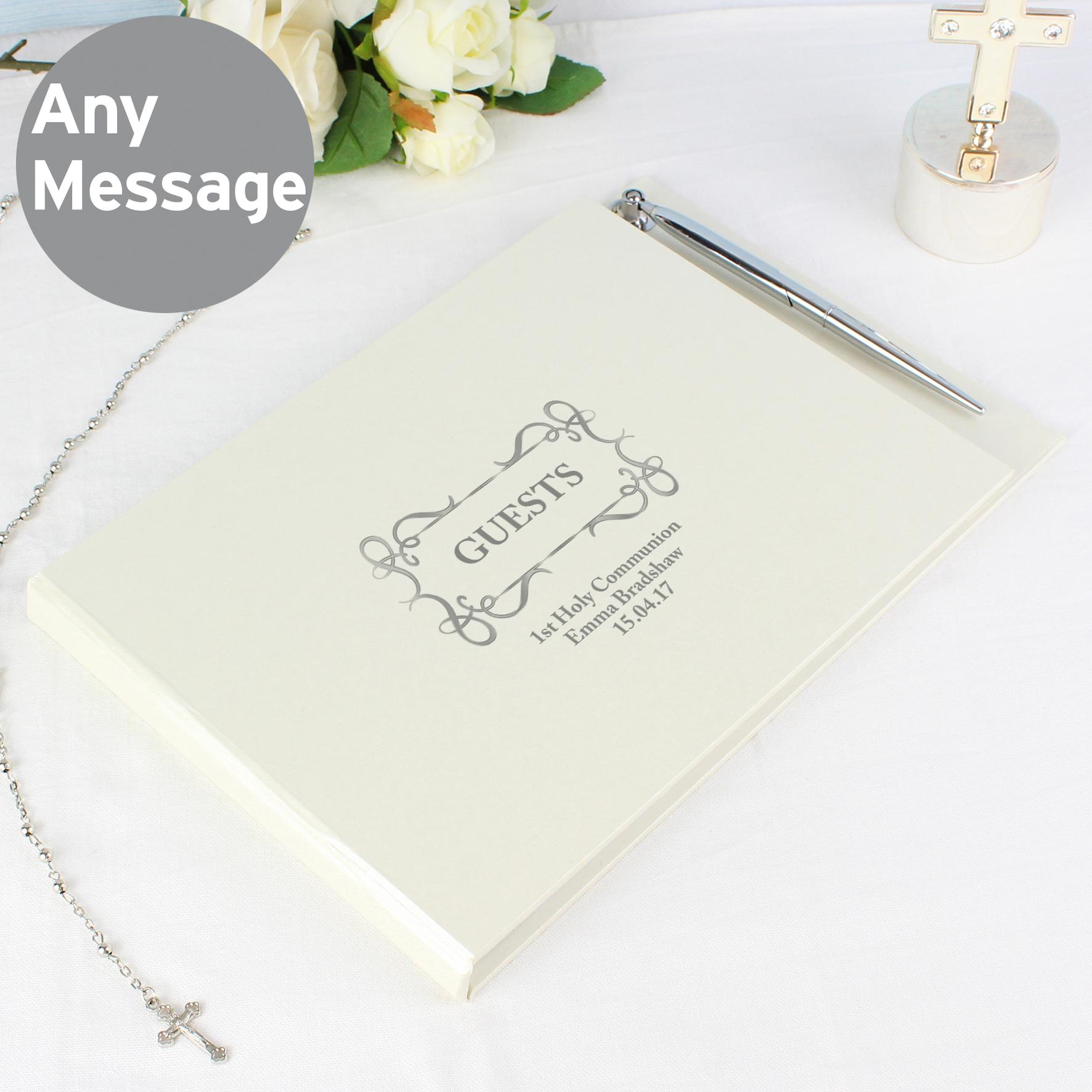 Personalised Hardback Guest Book Swirl Design