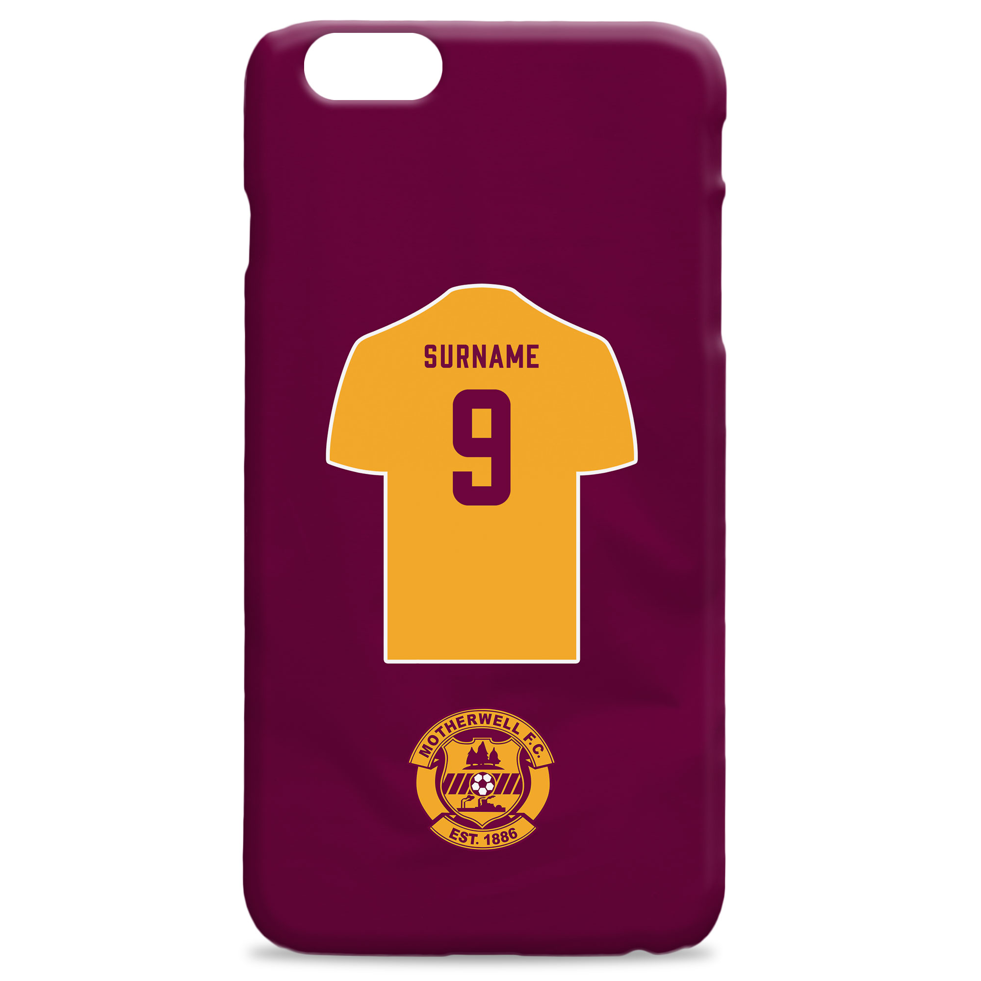 Motherwell FC Shirt Hard Back Phone Case