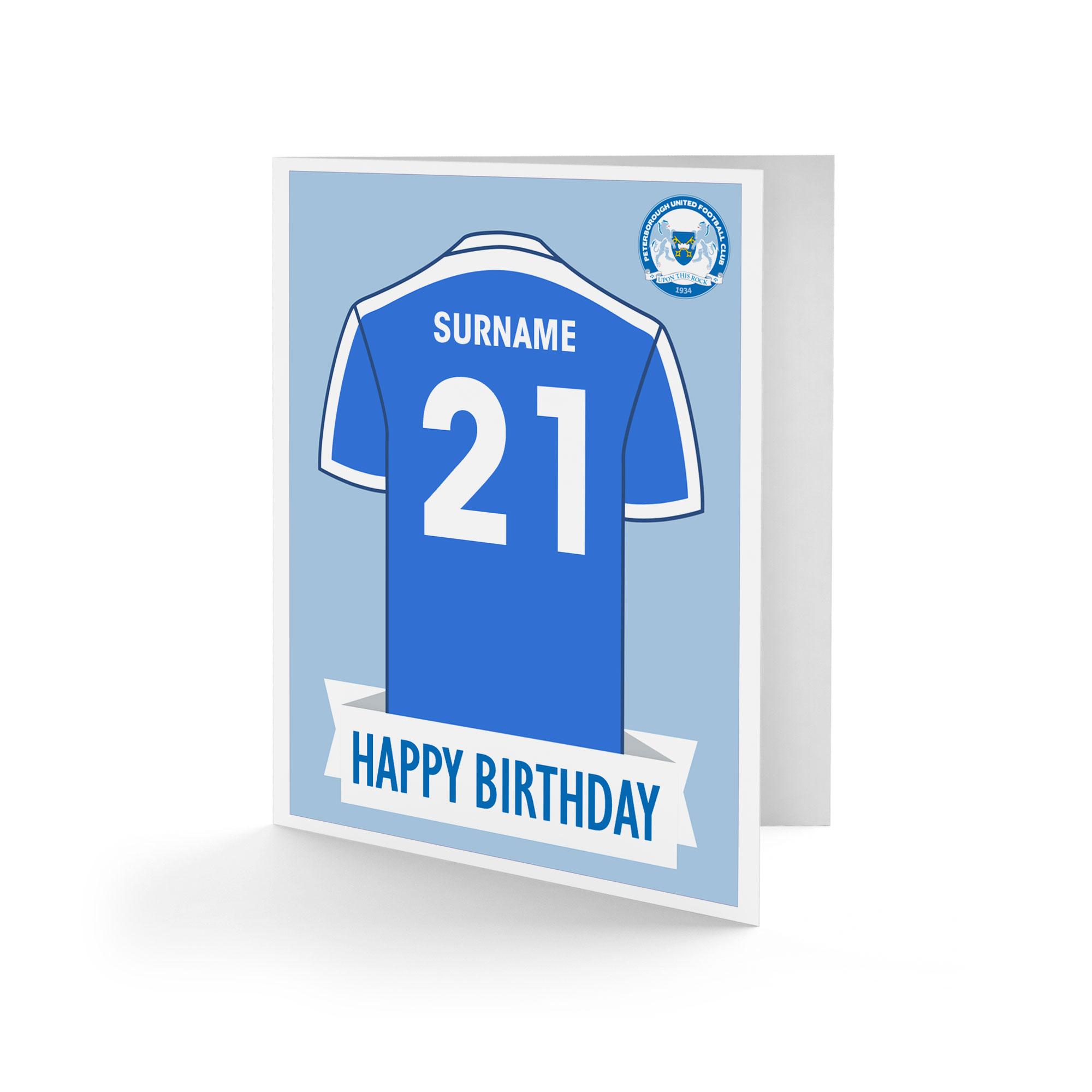 Peterborough United FC Shirt Birthday Card