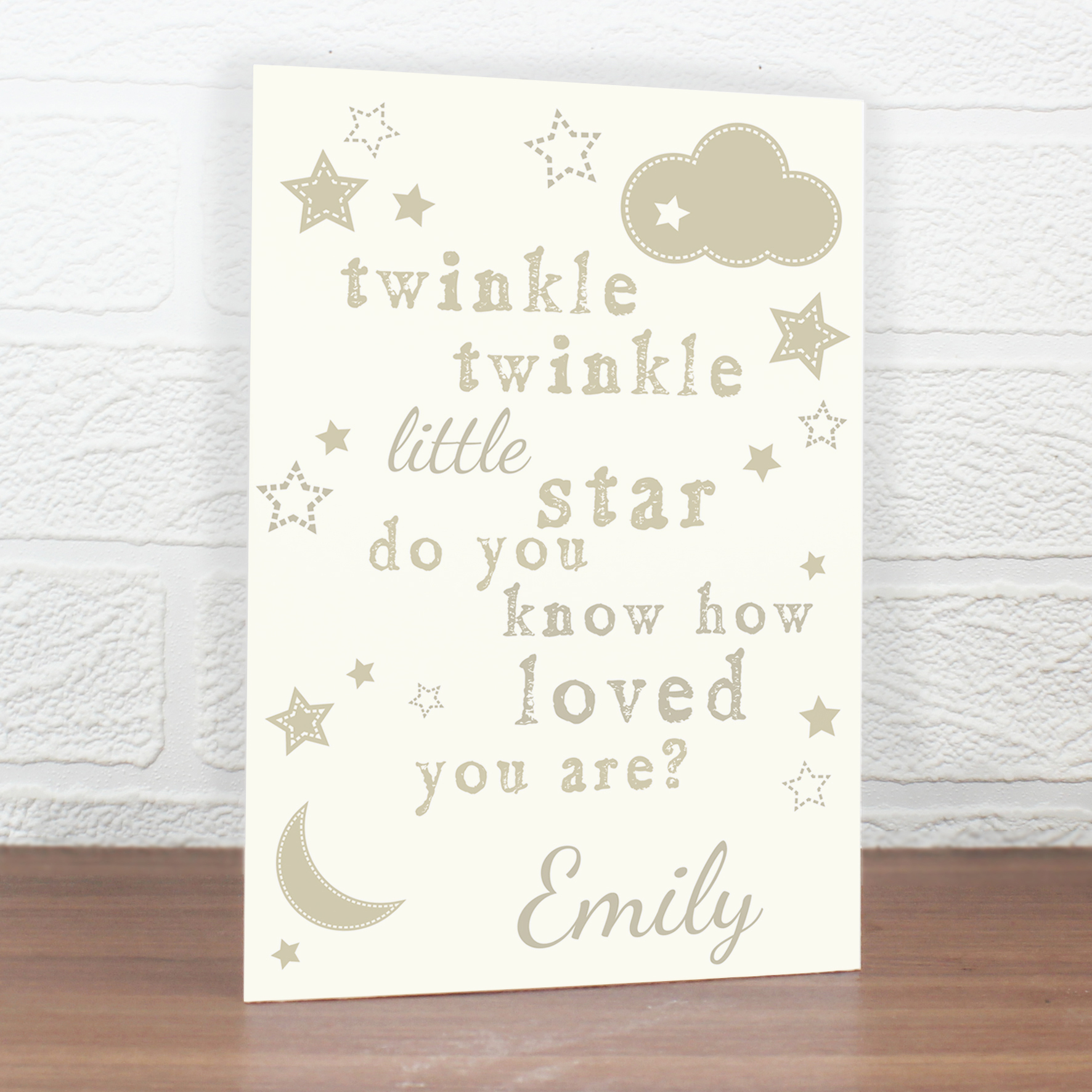 Personalised Twinkle Twinkle Card