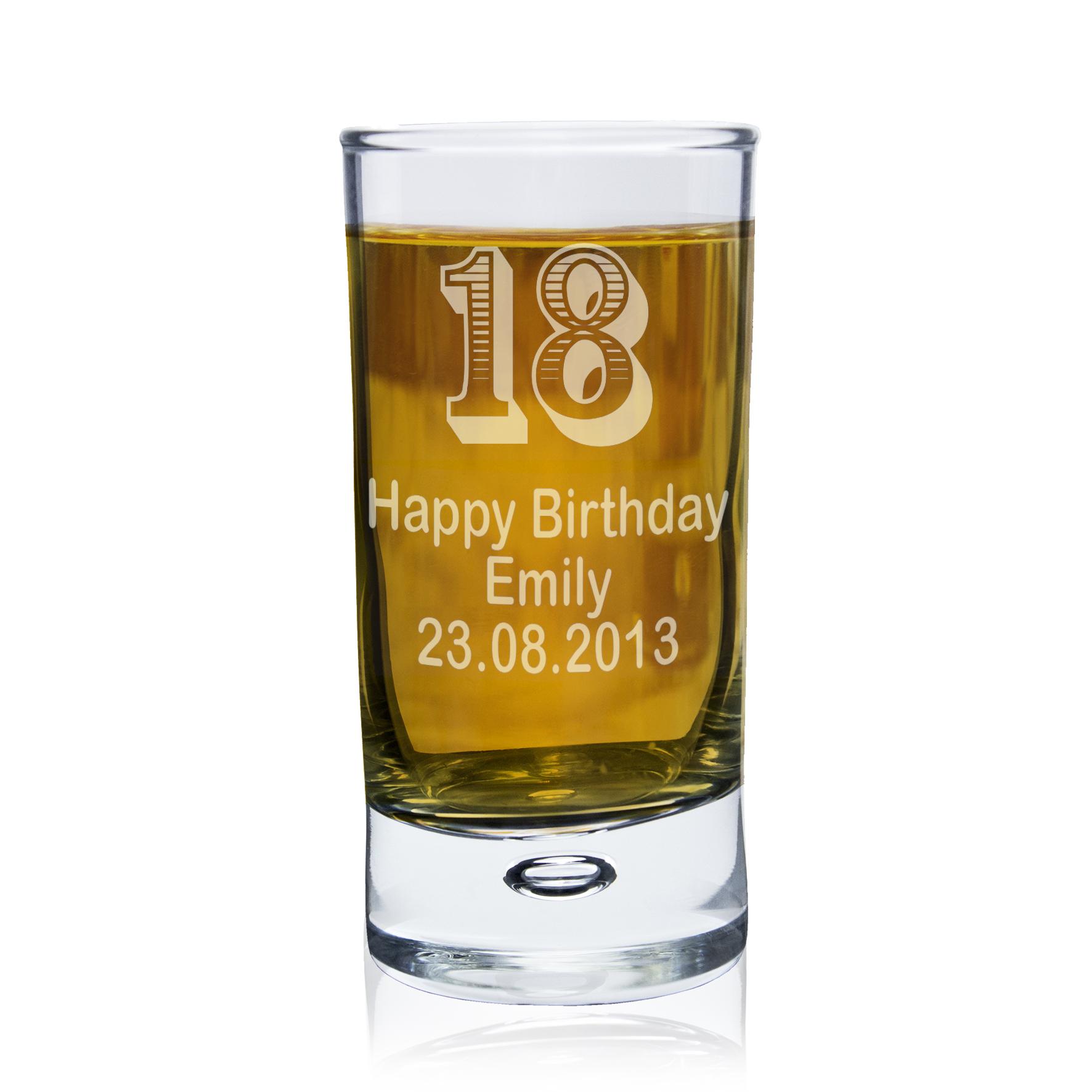 Engraved Bubble Shot Glass - Age Design