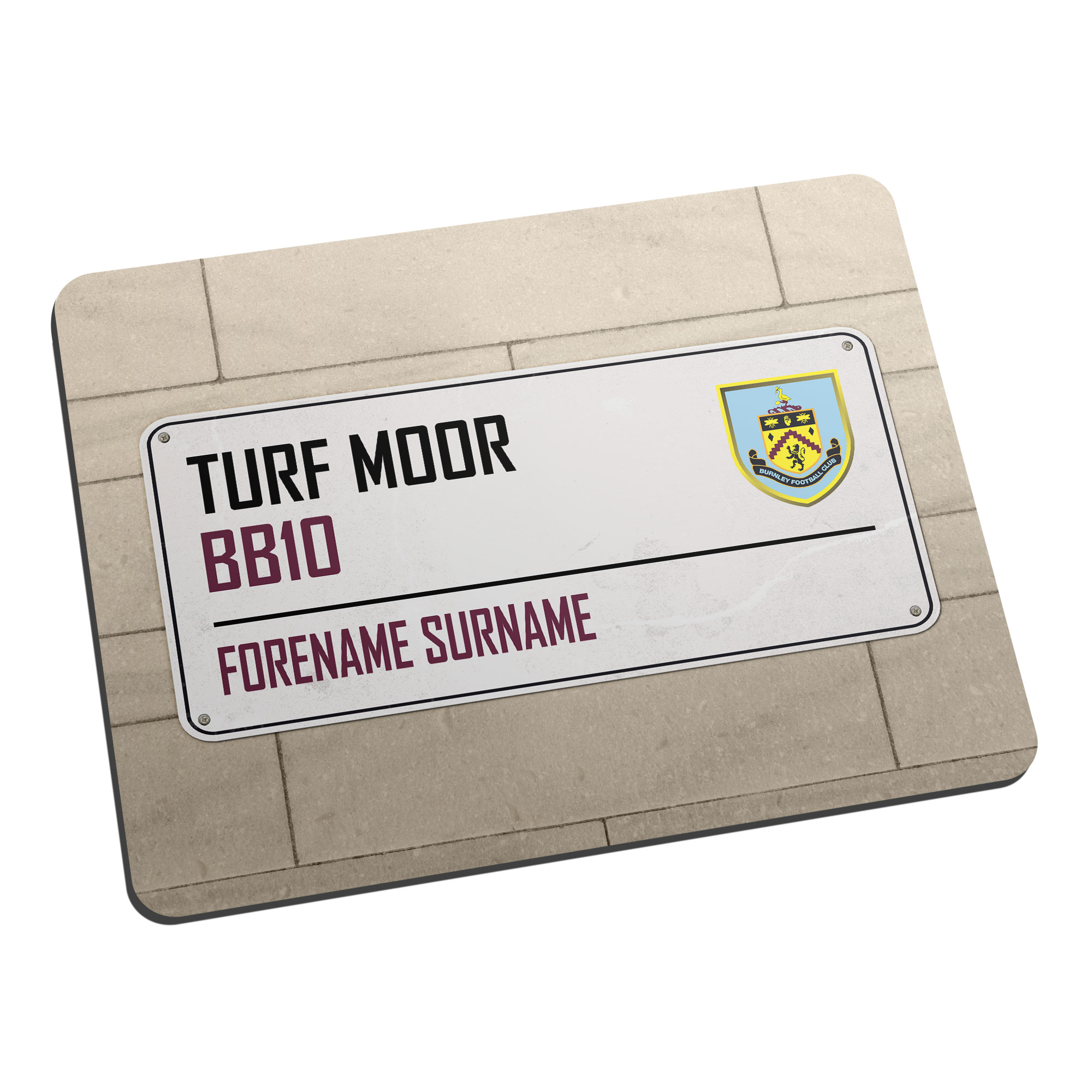 Burnley FC Street Sign Mouse Mat