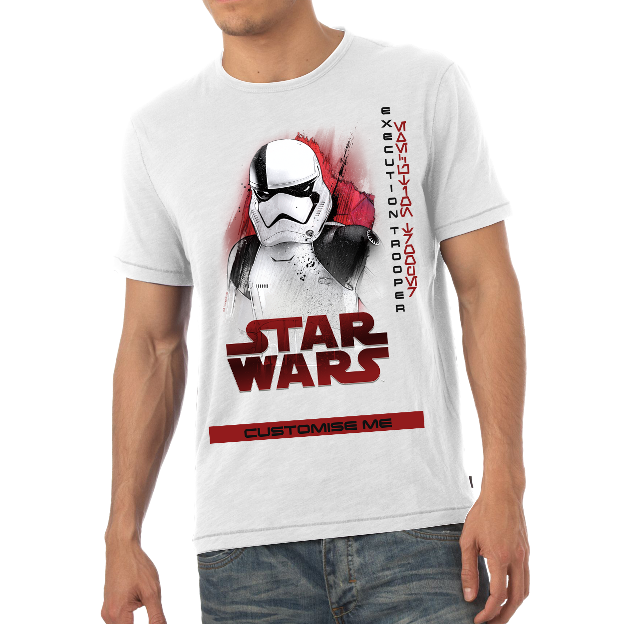Star Wars Execution Trooper Last Jedi Spray Paint Mens T-shirt