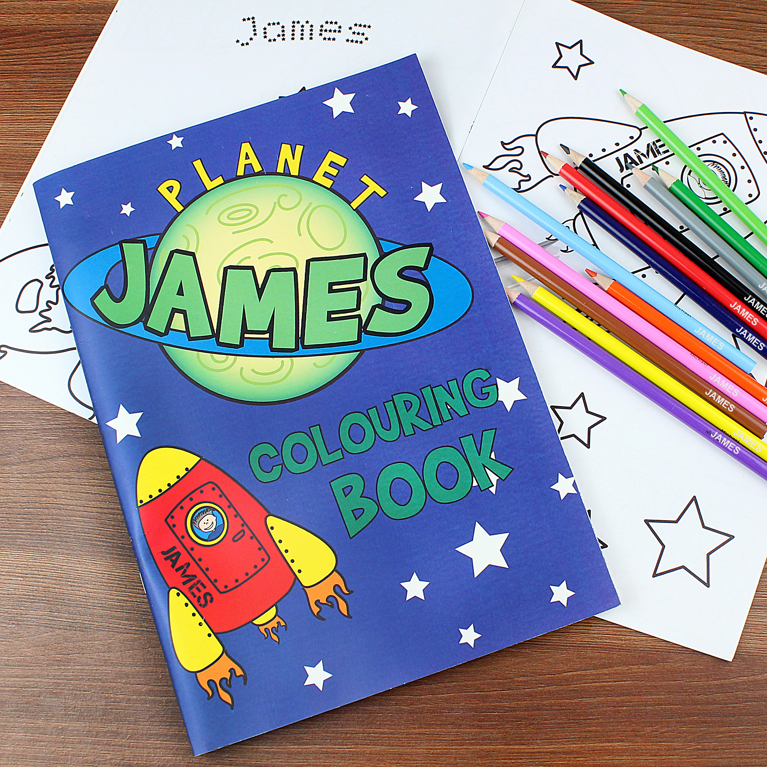 Personalised Space Colouring Set