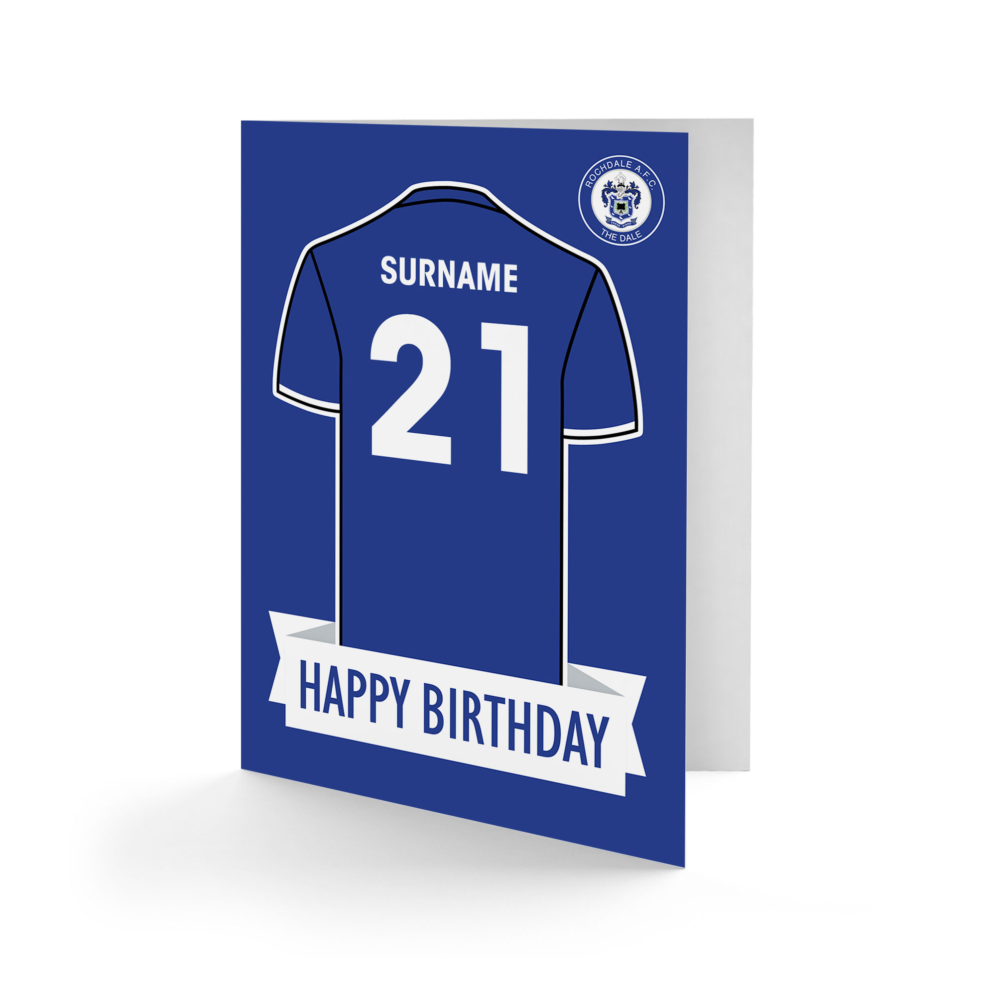 Rochdale AFC Shirt Birthday Card