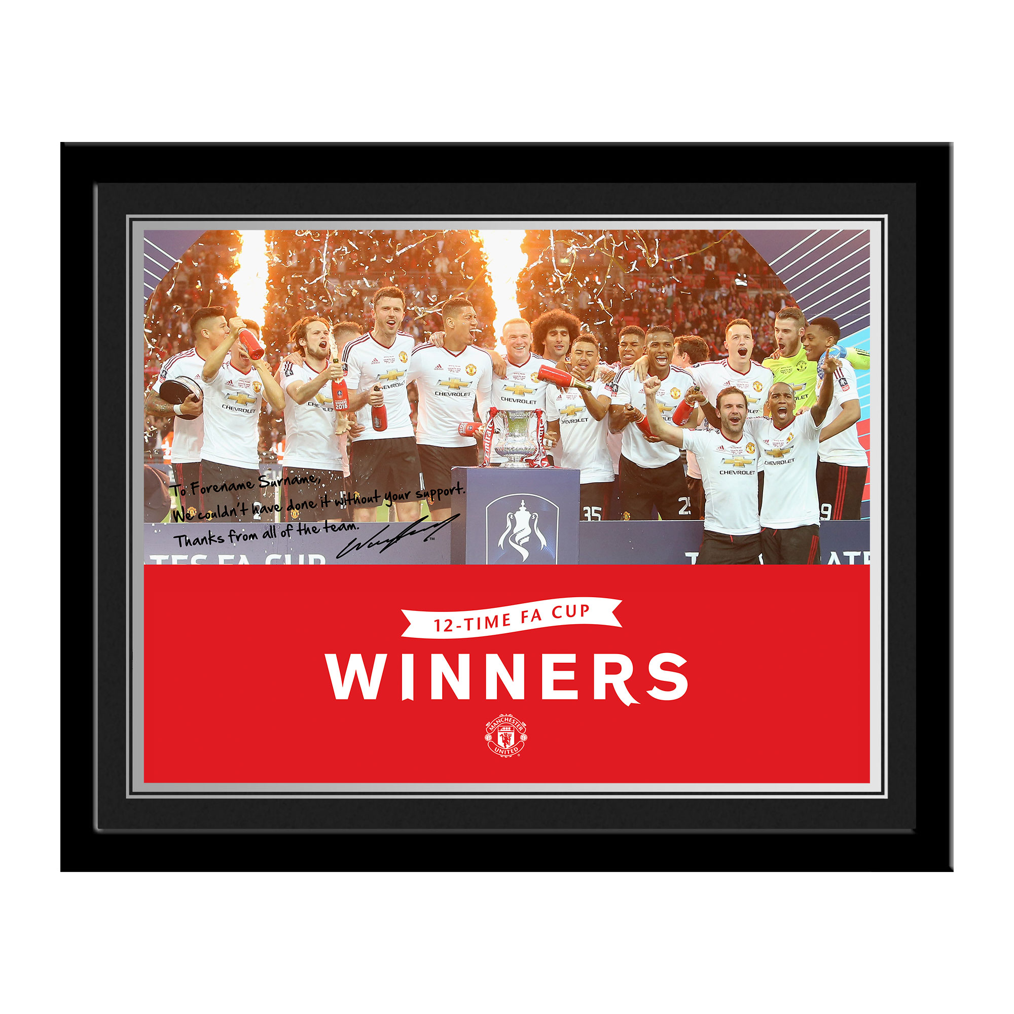 Manchester United FC FA Cup Winners 2016 Photo