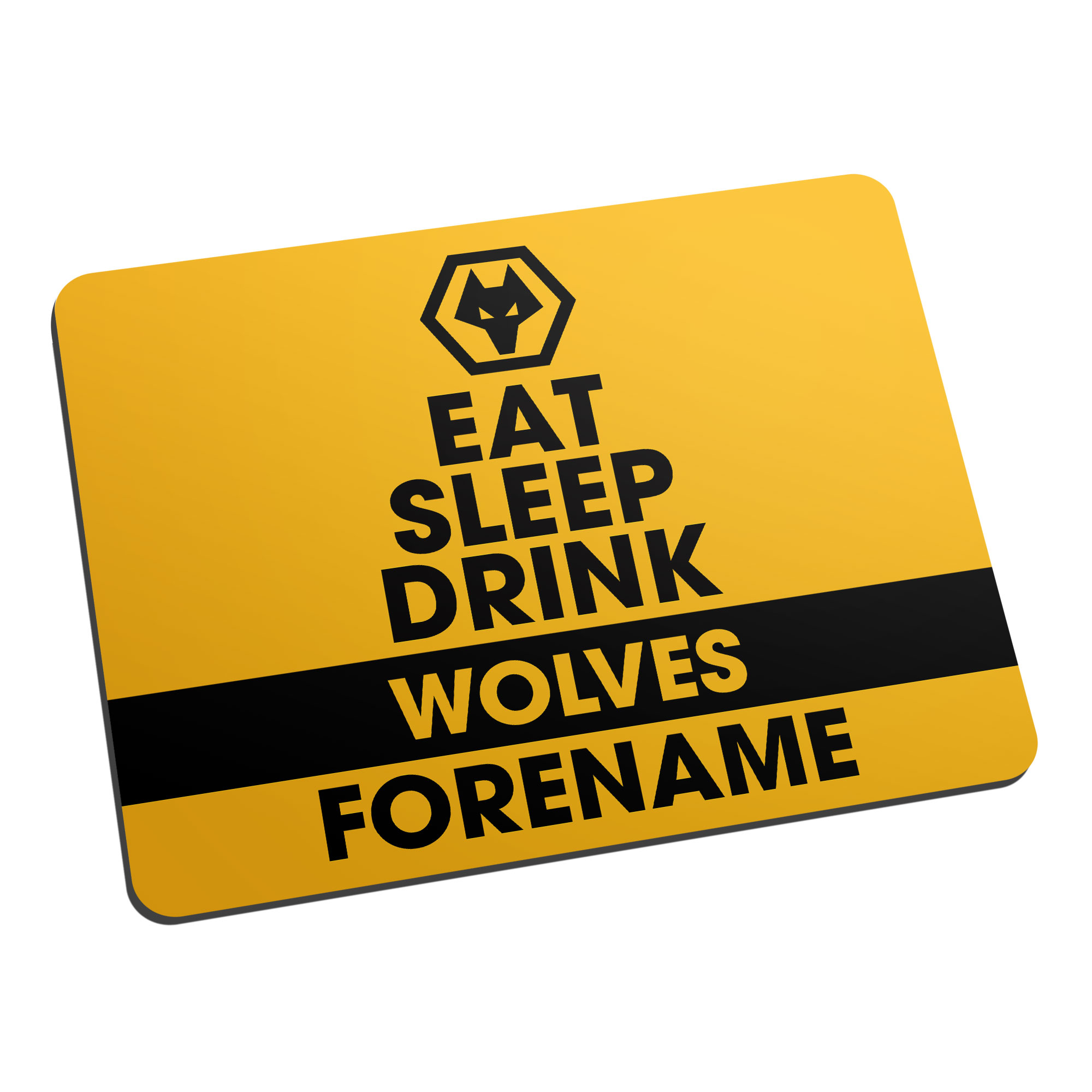 Wolves Eat Sleep Drink Mouse Mat