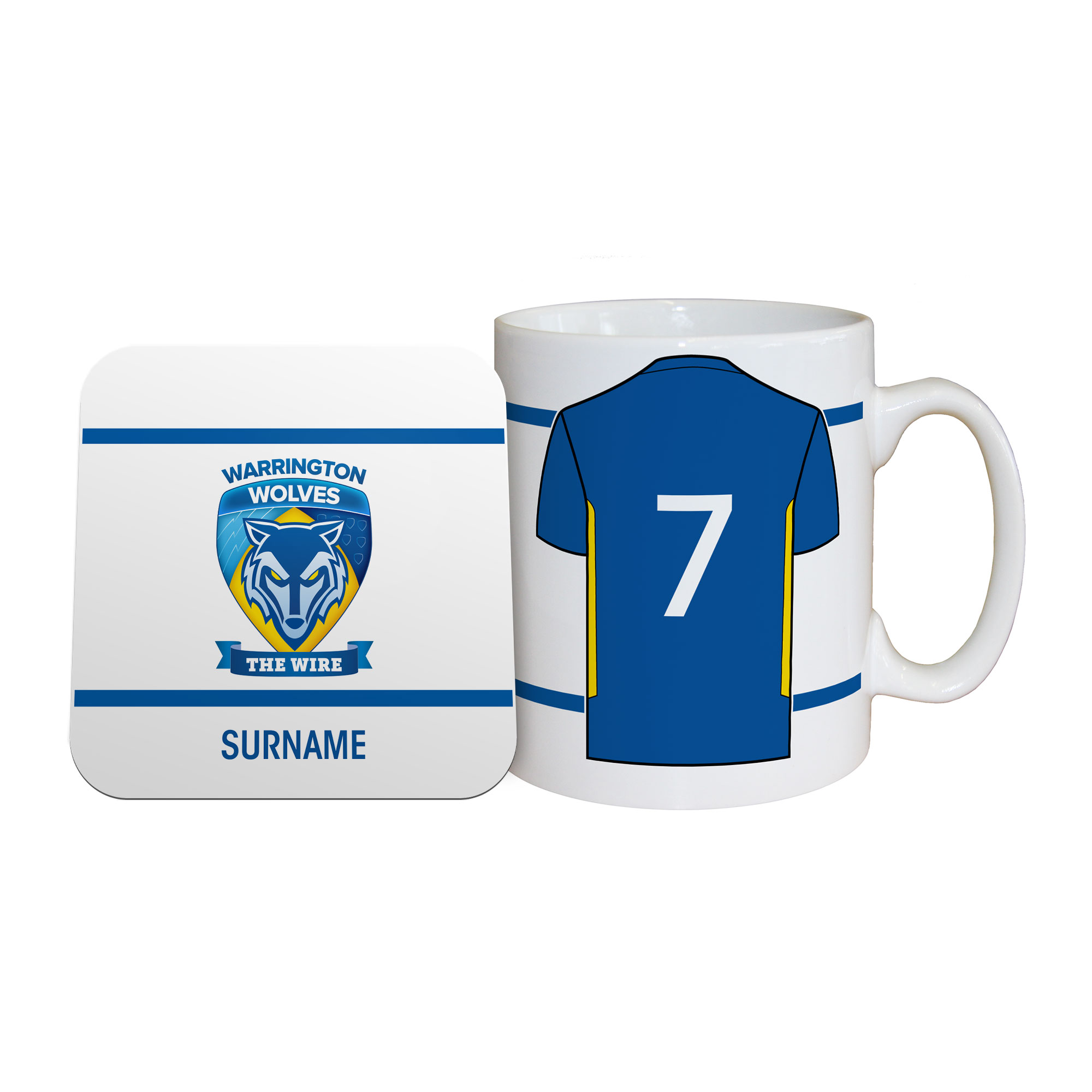 Warrington Wolves Shirt Mug & Coaster Set