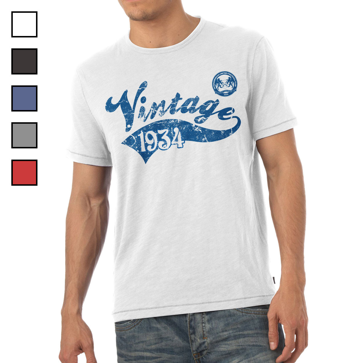 Peterborough United FC Mens Vintage T-Shirt