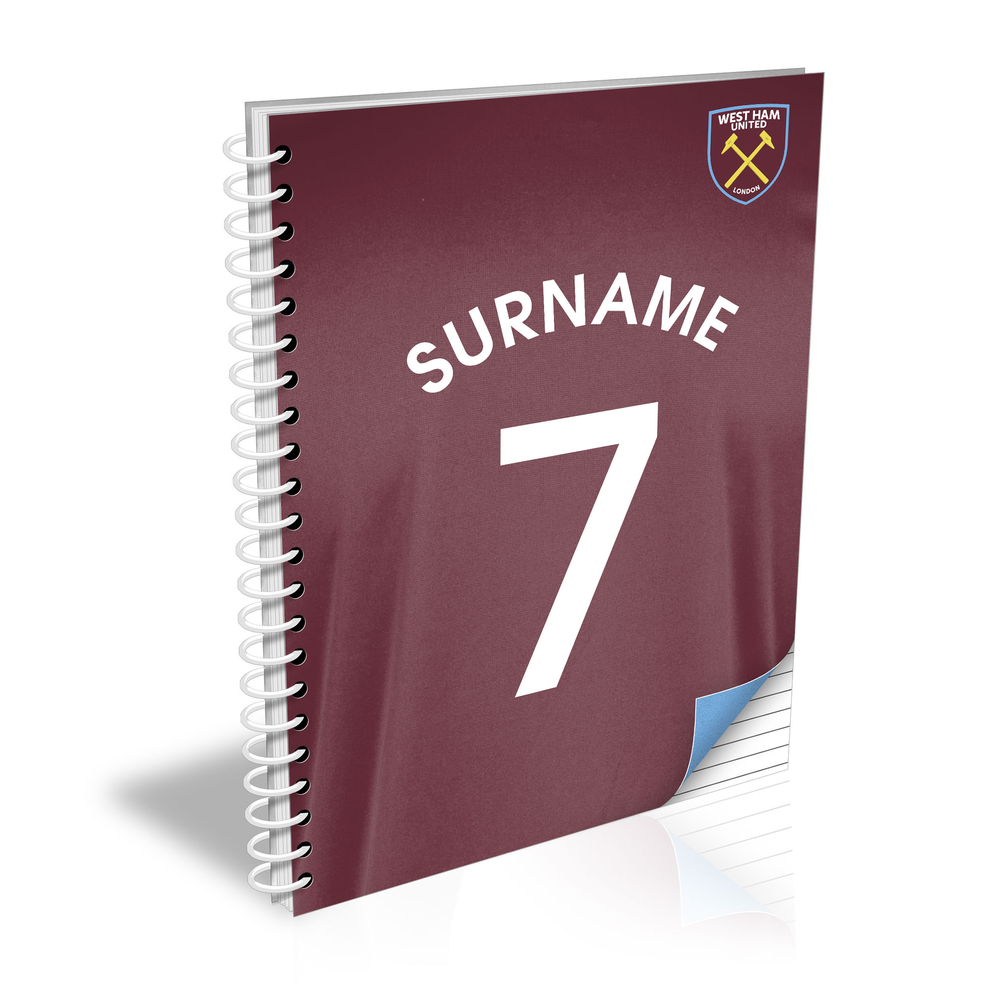 West Ham United FC Shirt Notebook
