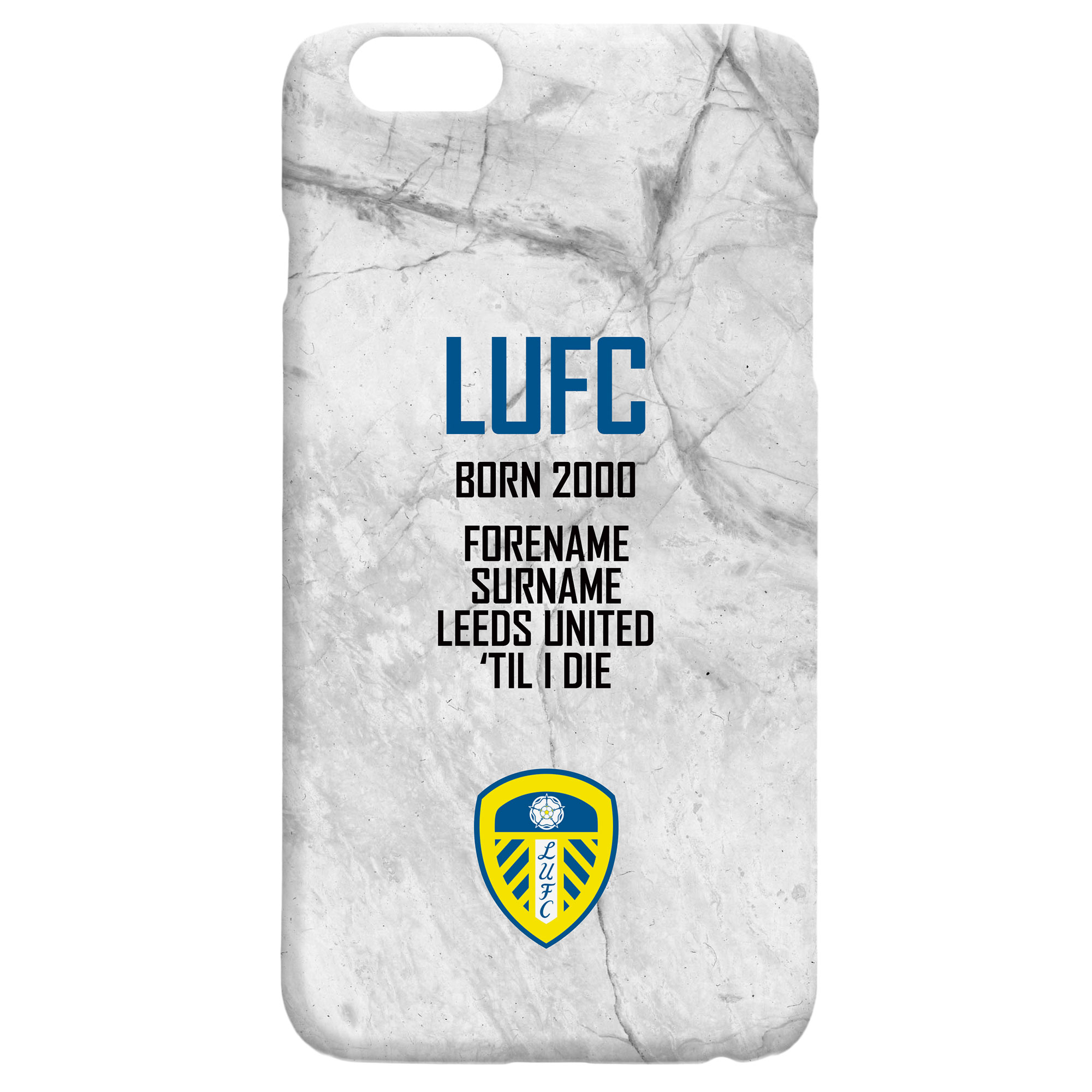 Leeds United FC 'Til I Die Hard Back Phone Case