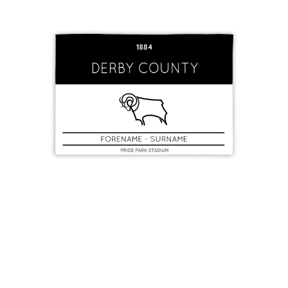 Derby County Minimal Ticket 3ft x 2ft Banner