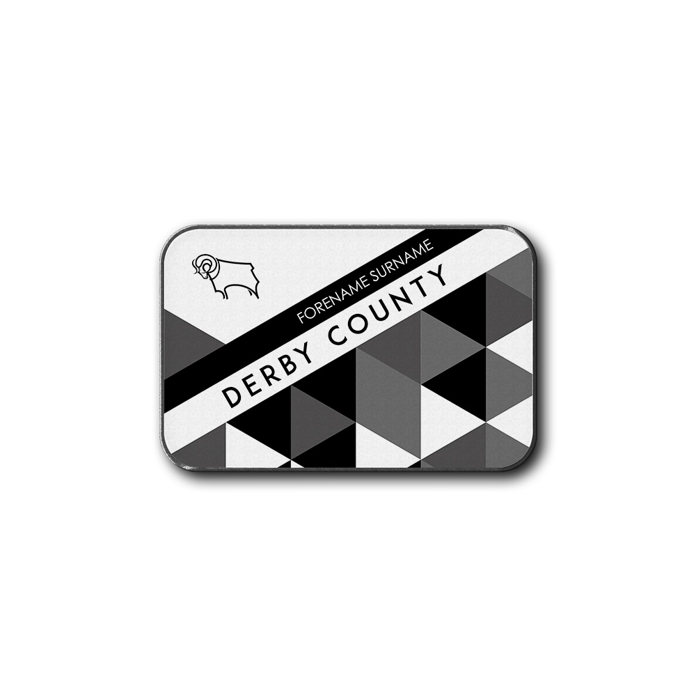 Derby County Patterned Rear Car Mat
