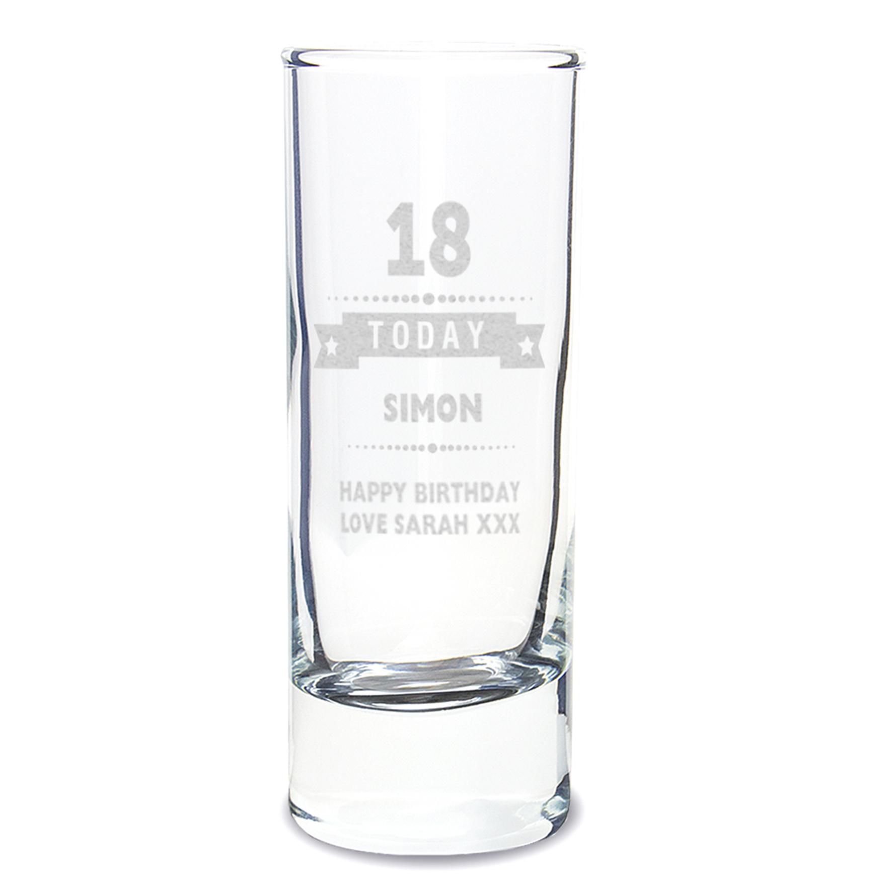Engraved Birthday Star Shot Glass