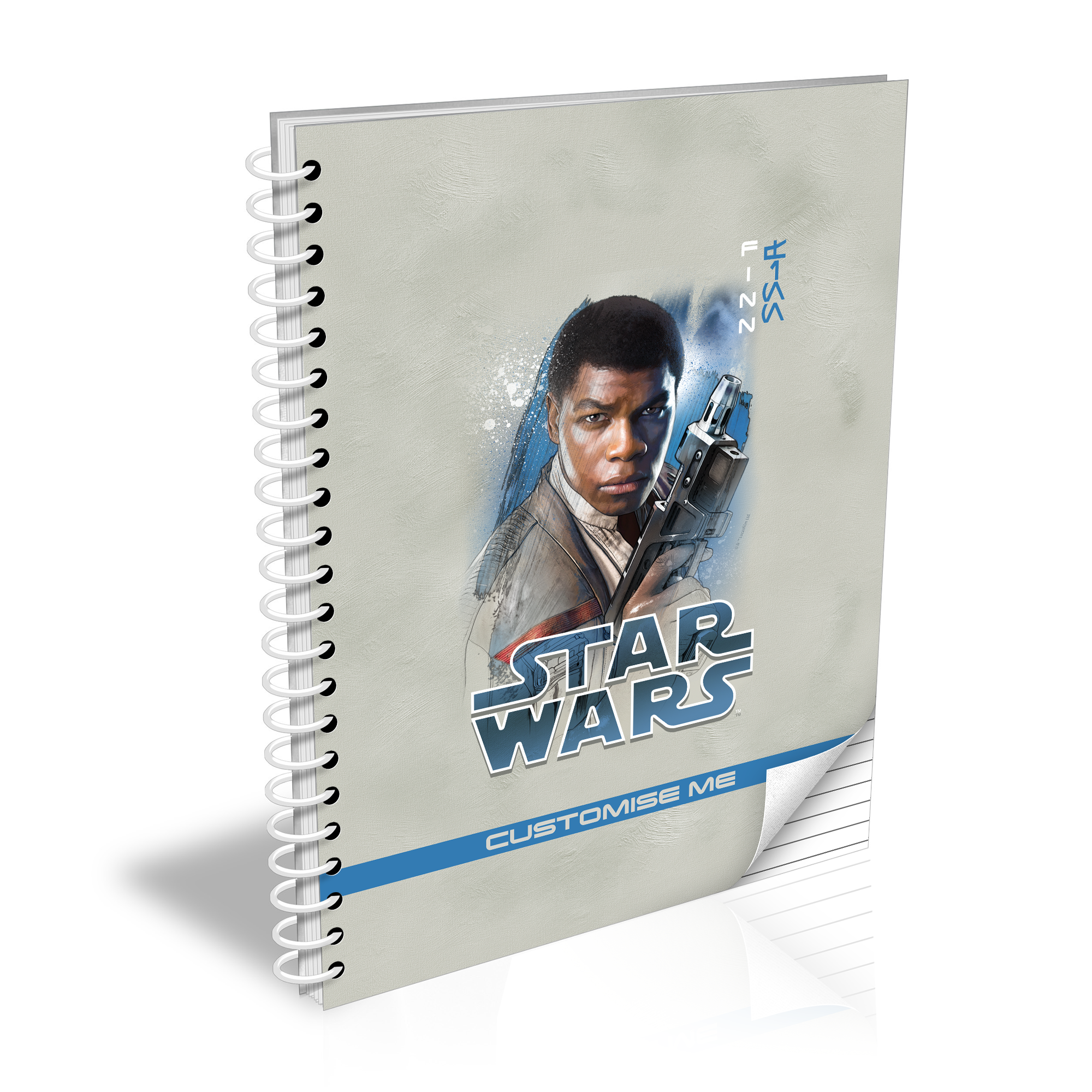 Star Wars Finn Last Jedi Spray Paint A5 Notebook