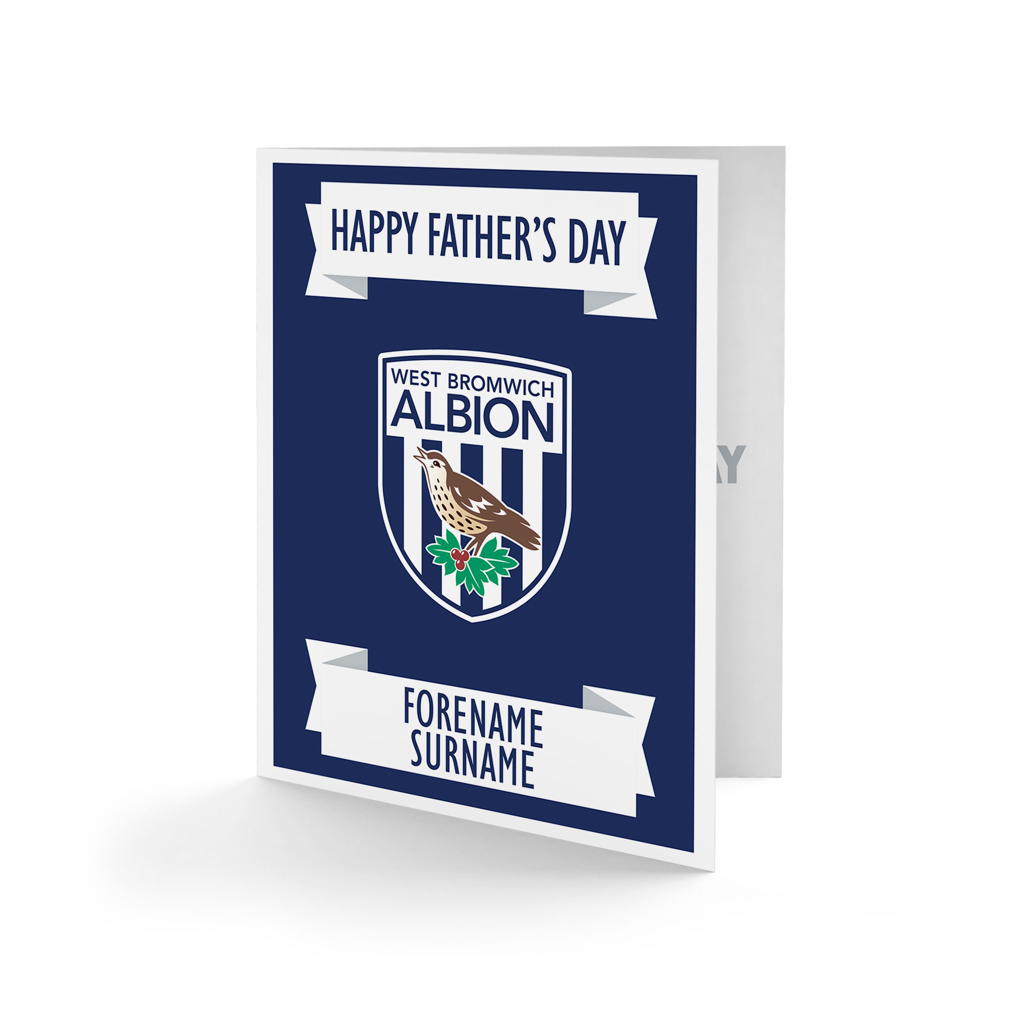 West Bromwich Albion FC Crest Father's Day Card