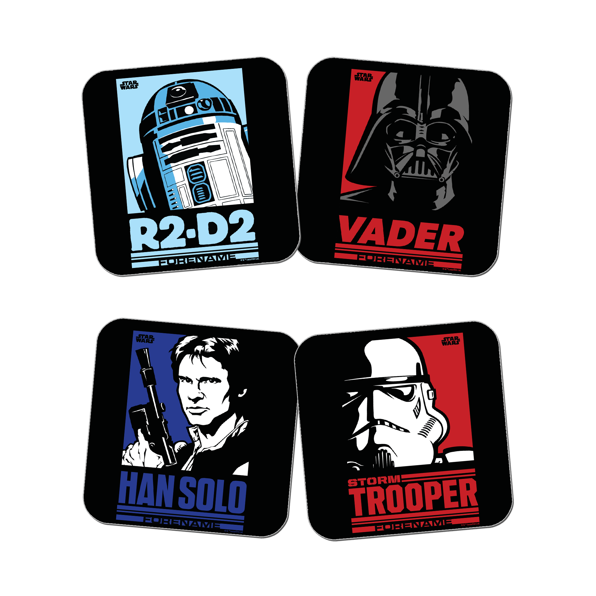 Star Wars Pop Art Coasters 4 Pack