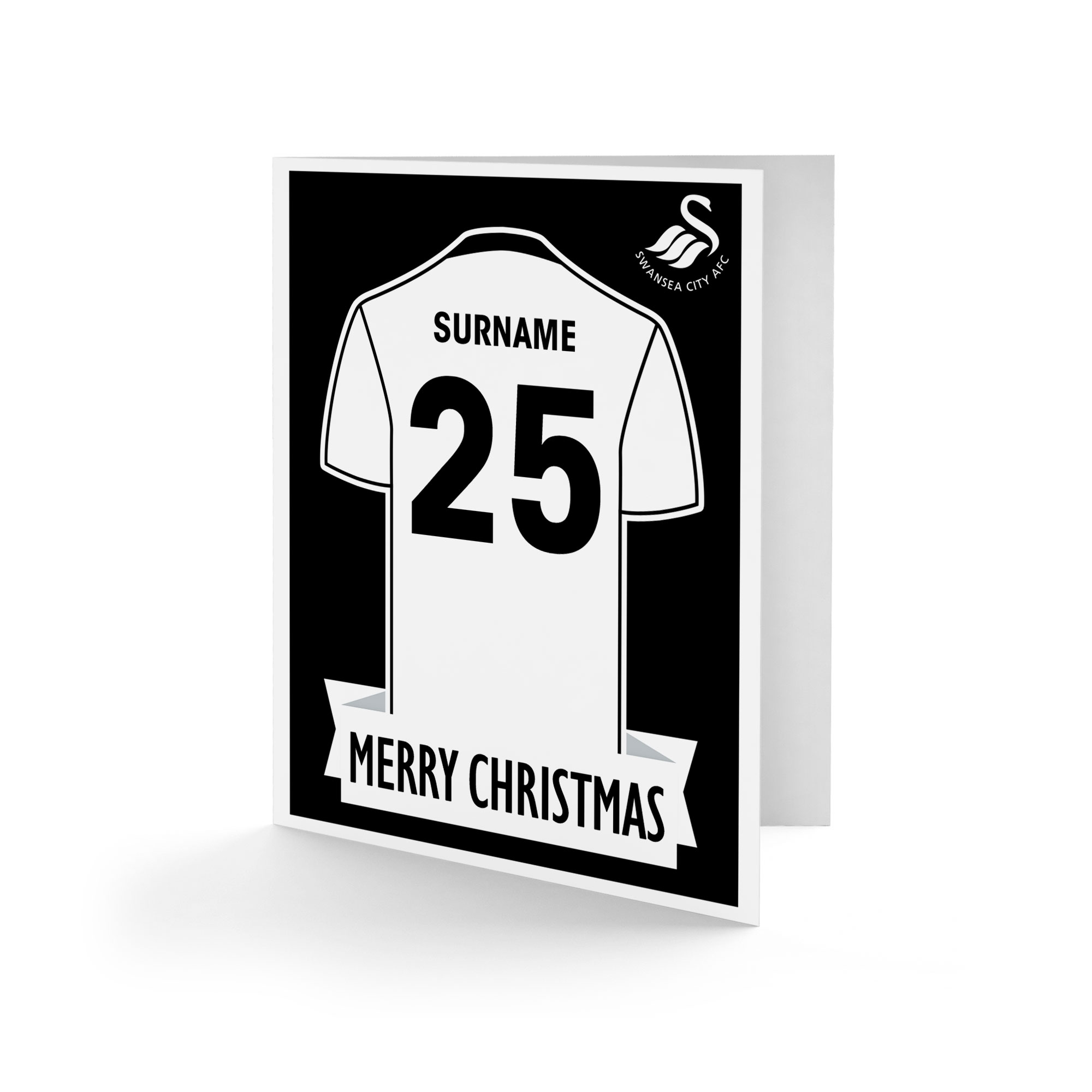 Swansea City AFC Shirt Christmas Card