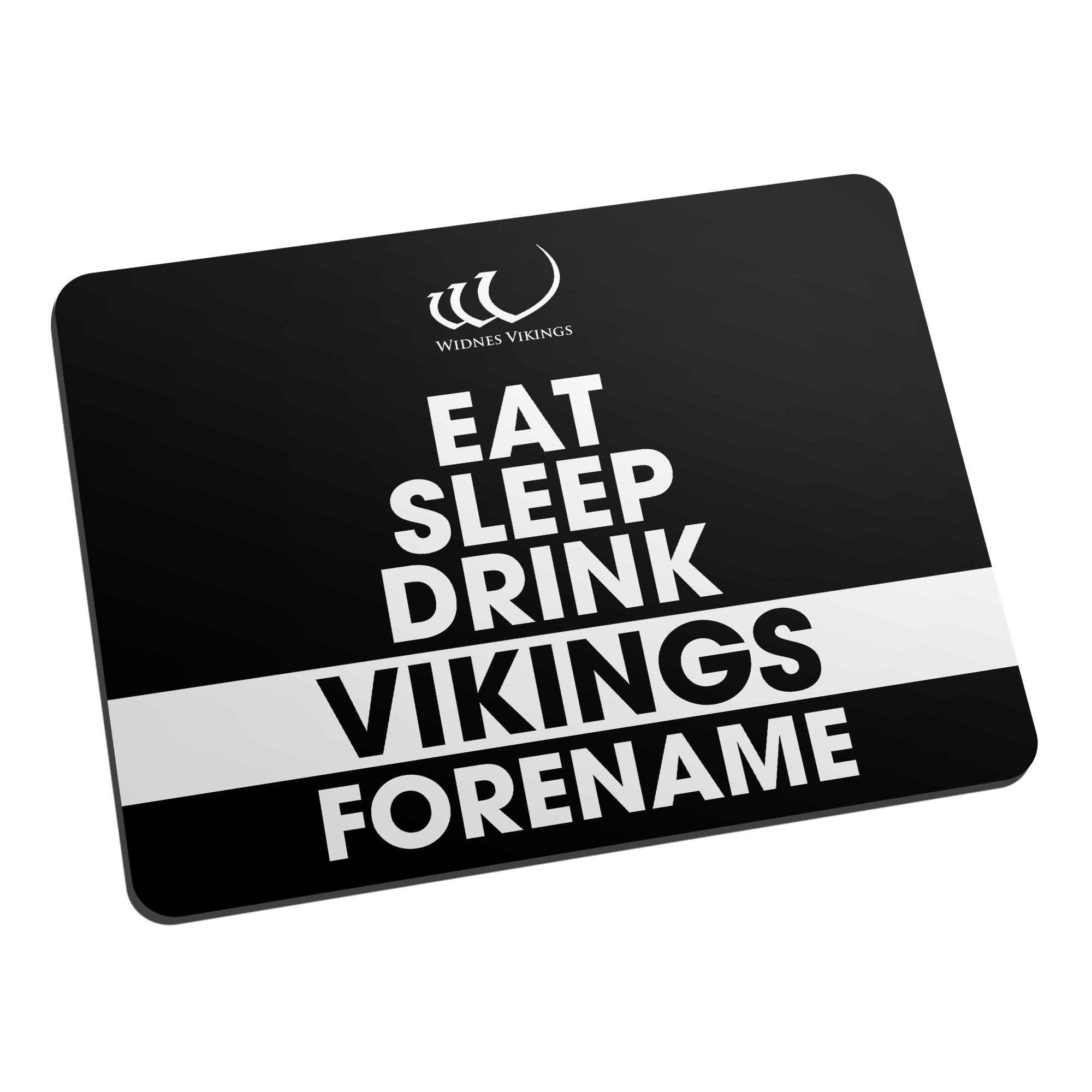 Widnes Vikings Eat Sleep Drink Mouse Mat