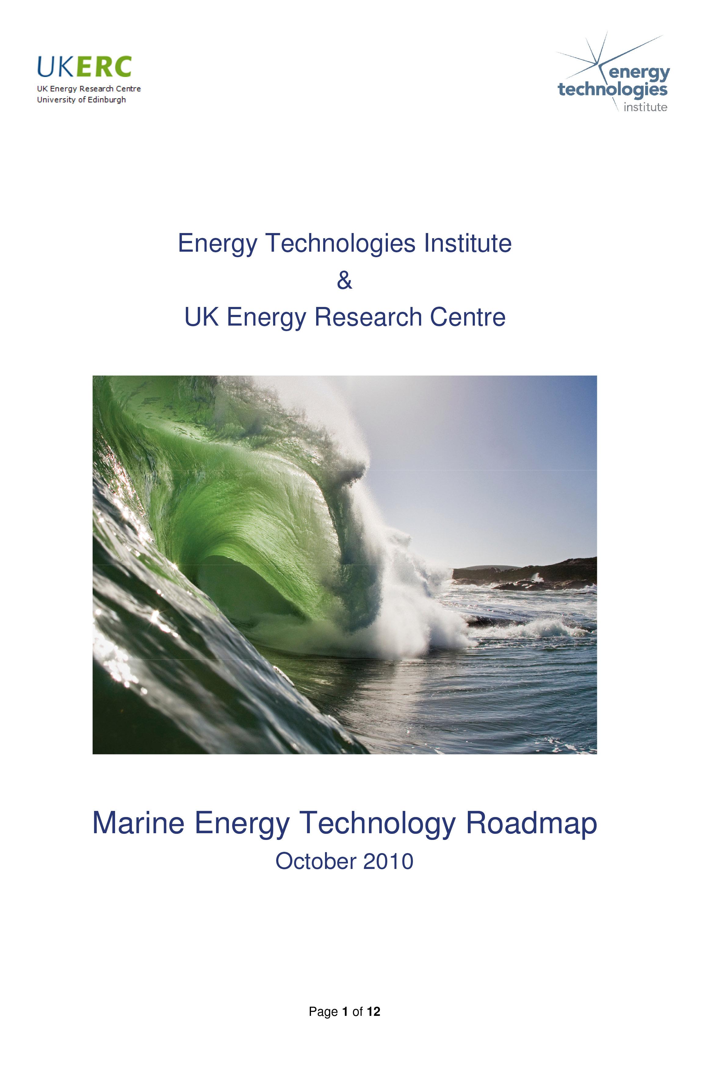 Marine Energy Technology Roadmap (2010)