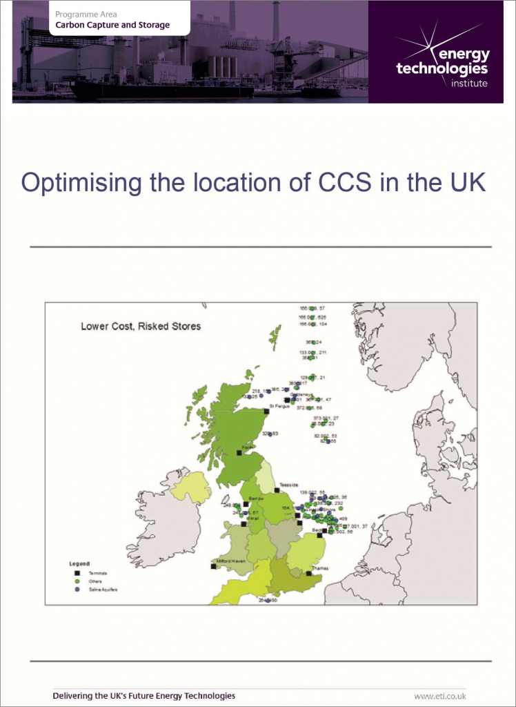 CCS - Optimising the location of CCS in the UK
