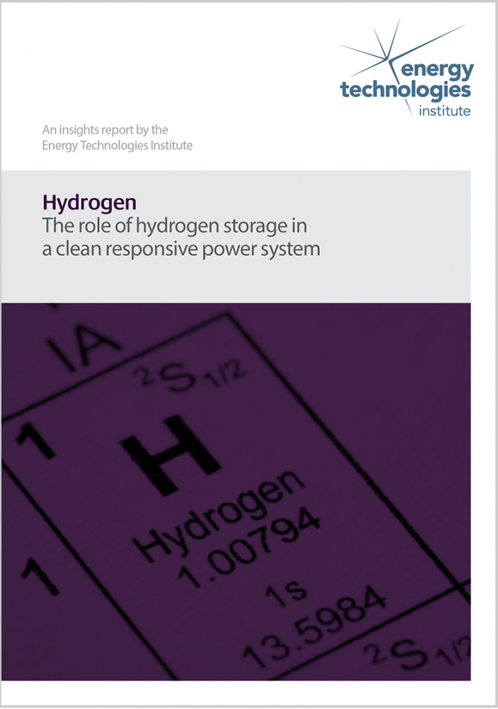 Carbon capture and storage - The role of hydrogen storage in a clean responsive power system