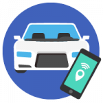 Vehicle tracking with an app
