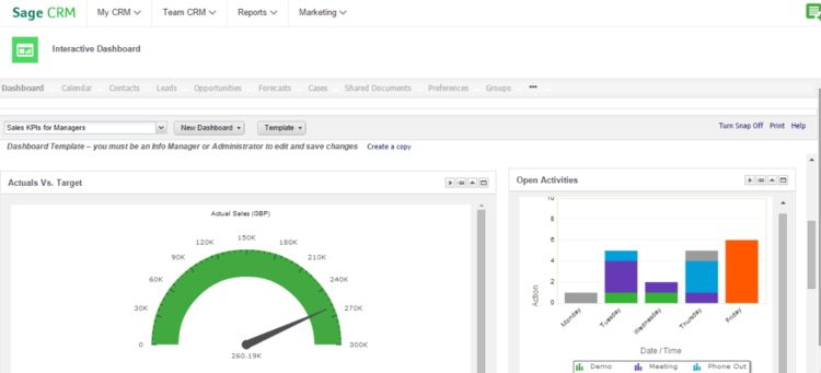 Sage CRM user display