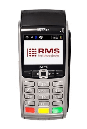 RMS portable card machine