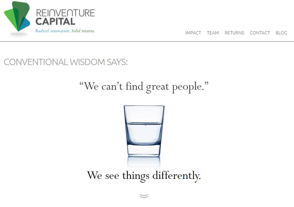 reinventure capital best financial web design