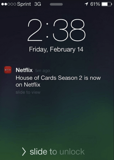 netflix push notifications