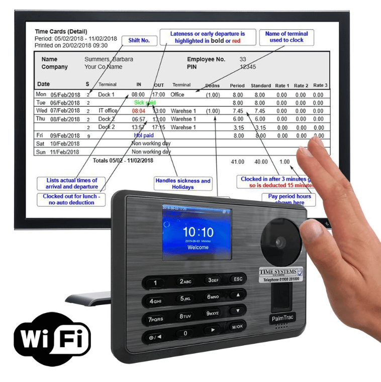 time systems uk hand geometry recogntion time and attendance system