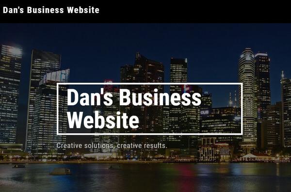 site123 website test example