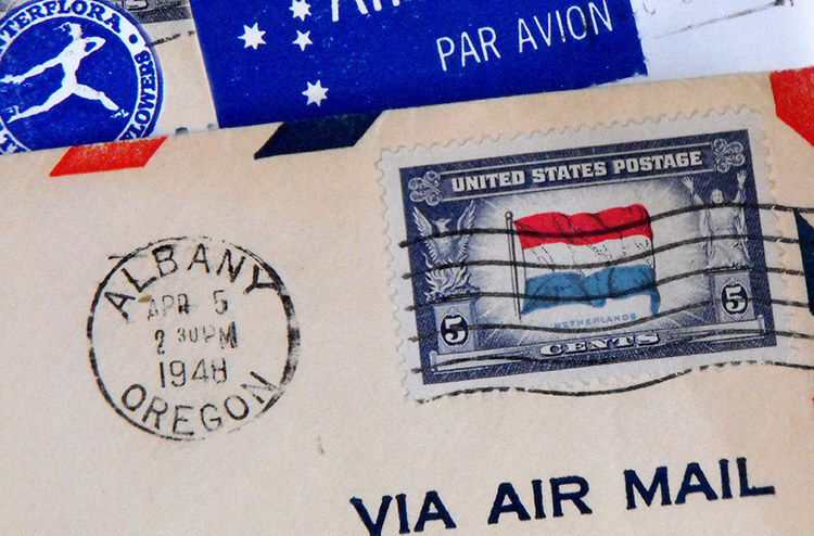 Metered mail vs stamped mail