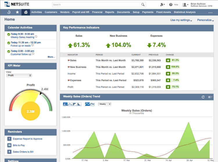 netsuite crm interface