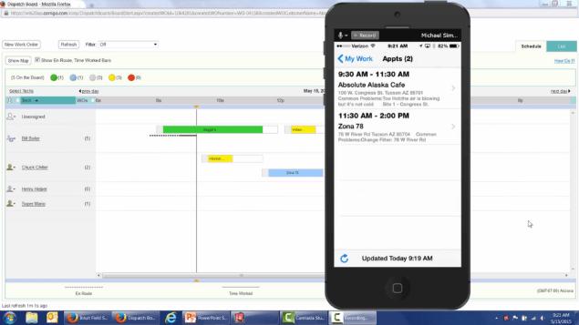 intuit work order scheduling