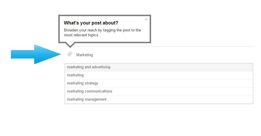 Adding tags on LinkedIn Pulse