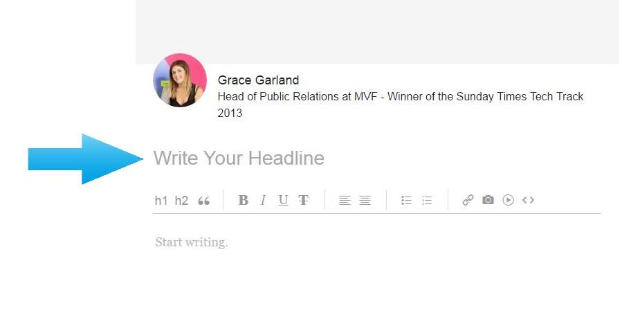 Linkedin Pulse headline