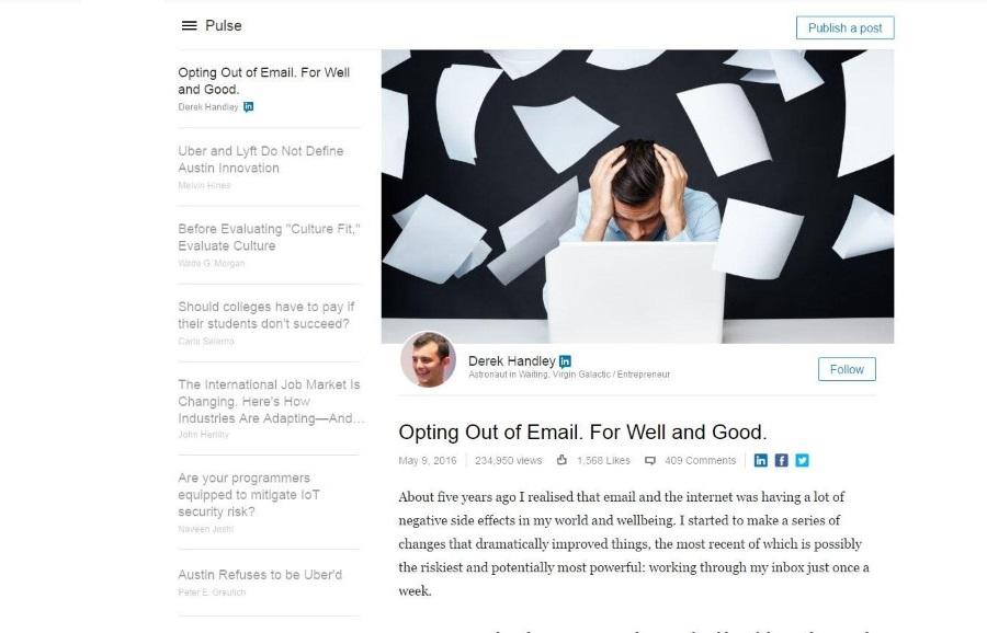 LinkedIn Pulse post