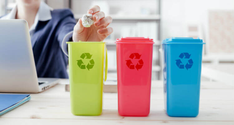 Office recycling bins for commercial waste