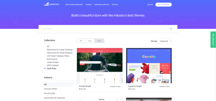 BigCommerce Review: Theme Store