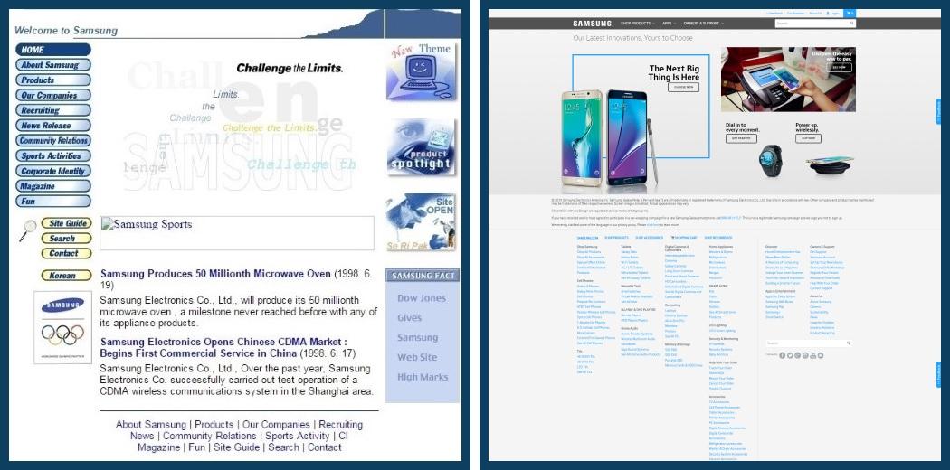 Samsung website