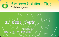 BP Business Solutions Fuel Plus card