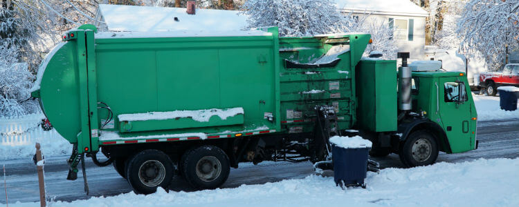 Garbage truck using Azuga