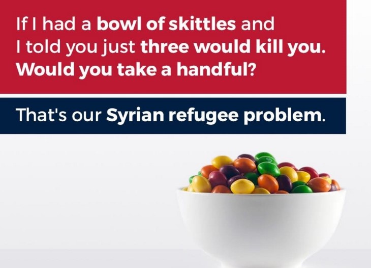 Syrian Refugee Skittles Image