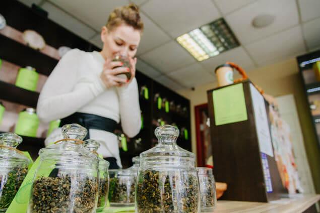 Tea selection at Teazer World Tea Market