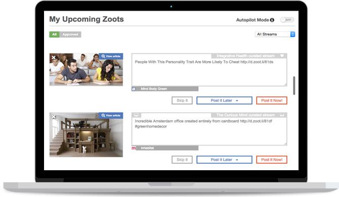 ZootRock user interface